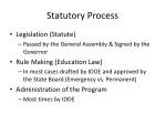 statutory process