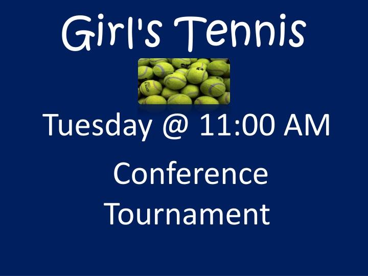 Girl's Tennis