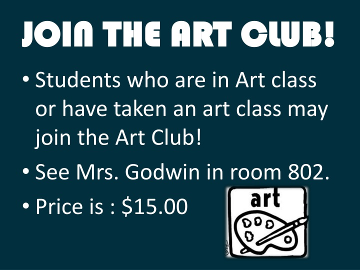 JOIN THE ART CLUB!