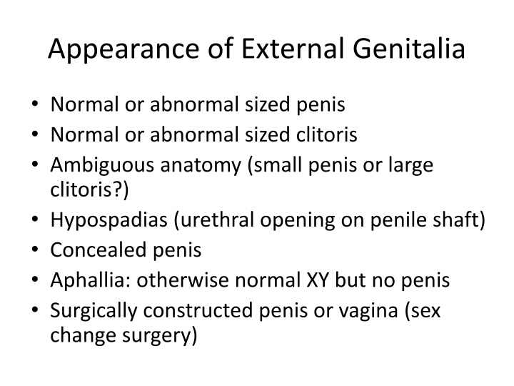 Appearance of External Genitalia