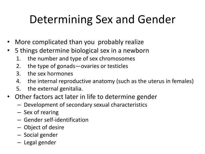 Determining Sex and Gender