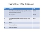example of example of dsm diagnosis dsm