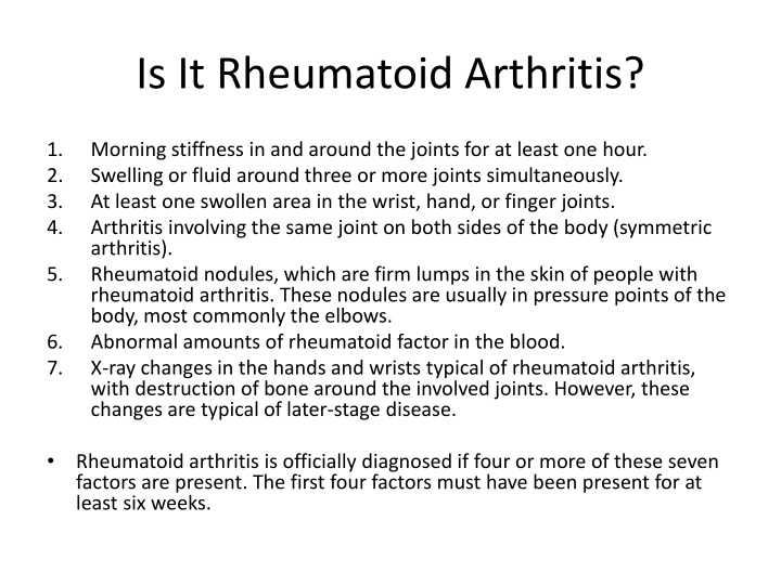 Is It Rheumatoid Arthritis?