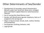 other determinants of sex gender
