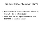 prostate cancer may not harm