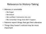 relevance to history taking