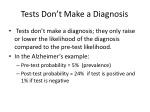 tests don t make a diagnosis