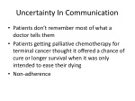 uncertainty in communication