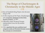 the reign of charlemagne christianity in the middle ages