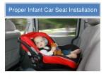 proper infant car seat installation