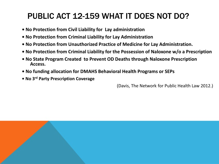 Public Act 12-159 What IT Does Not Do?
