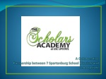 a collaborative partnership between 7 spartanburg school districts and usc upstate