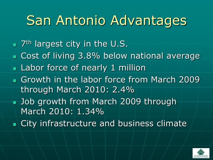 San Antonio Advantages
