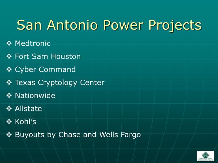 San Antonio Power Projects