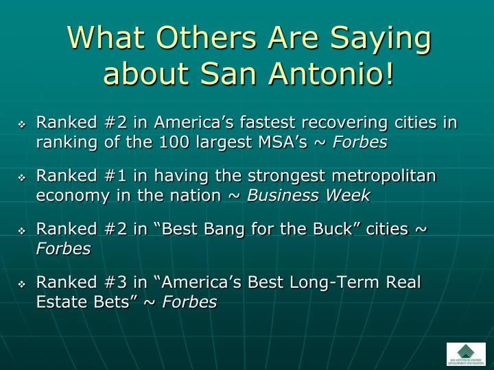 What Others Are Saying about San Antonio!