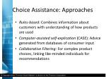 choice assistance approaches2