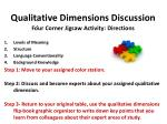 qualitative dimensions discussion