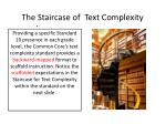 the staircase of text complexity1
