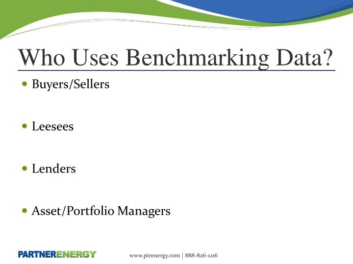 Who Uses Benchmarking Data?