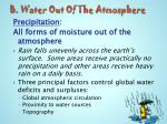 b water out of the atmosphere