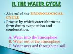 ii the water cycle