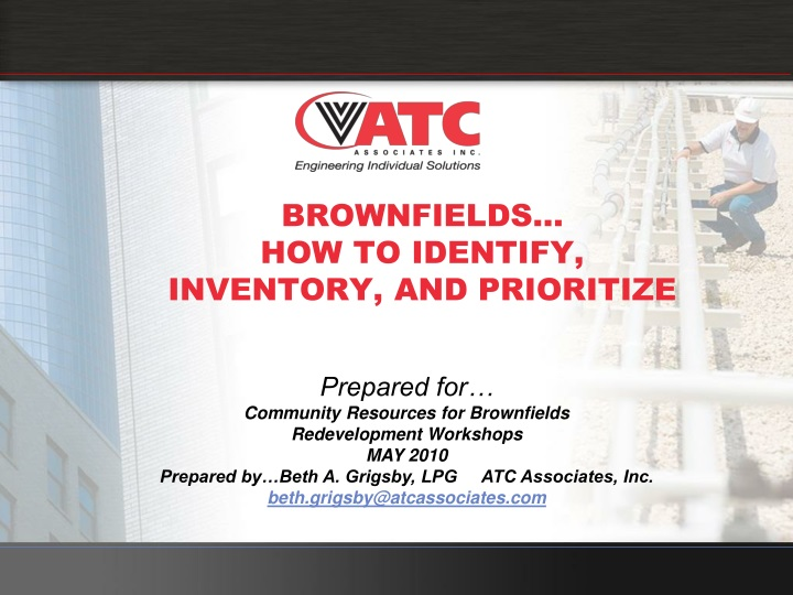 Brownfields how to identify inventory and prioritize