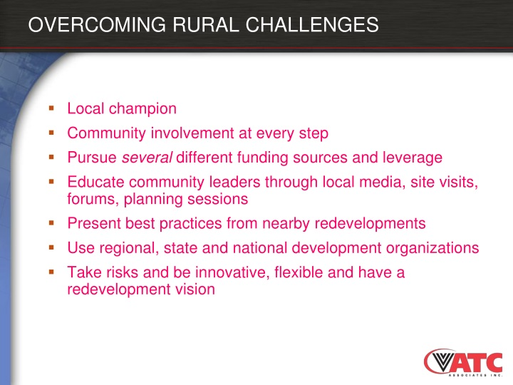 OVERCOMING RURAL CHALLENGES