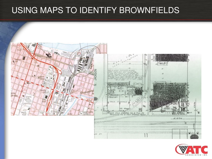 USING MAPS TO IDENTIFY BROWNFIELDS