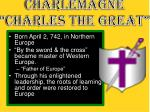 charlemagne charles the great