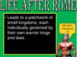 life after rome