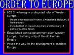 order to europe