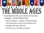 the middle ages1