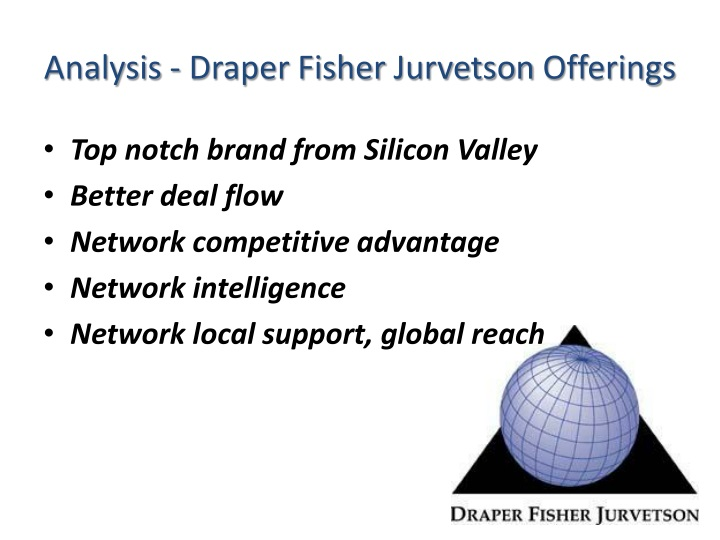 Analysis - Draper Fisher
