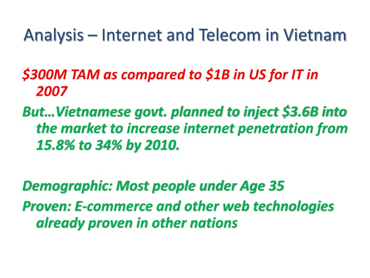 Analysis – Internet and Telecom in Vietnam