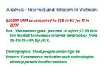 analysis internet and telecom in vietnam