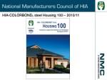 hia colorbond steel housing 100 2010 11
