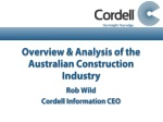 overview analysis of the australian construction industry