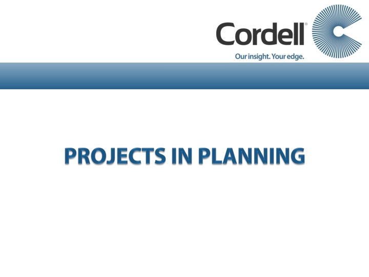 PROJECTS IN PLANNING