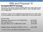 irm and proposal a