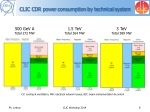 clic cdr power consumption by technical system