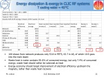 energy dissipation exergy in clic rf systems t cooling water 40 c