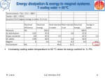 energy dissipation exergy in magnet systems t cooling water 60 c