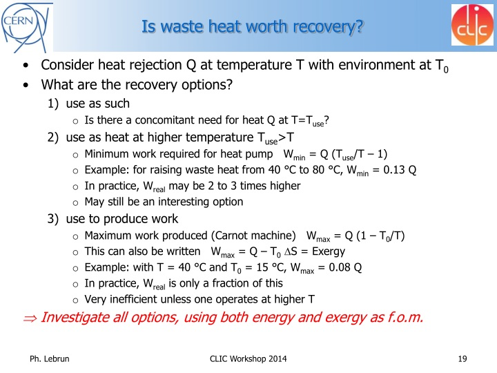 Is waste heat worth recovery?
