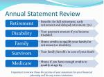 annual statement review