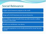 social relevance