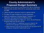 county administrator s proposed budget summary