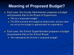 meaning of proposed budget