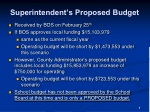 superintendent s proposed budget