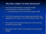 why was a higher tax rate advertised