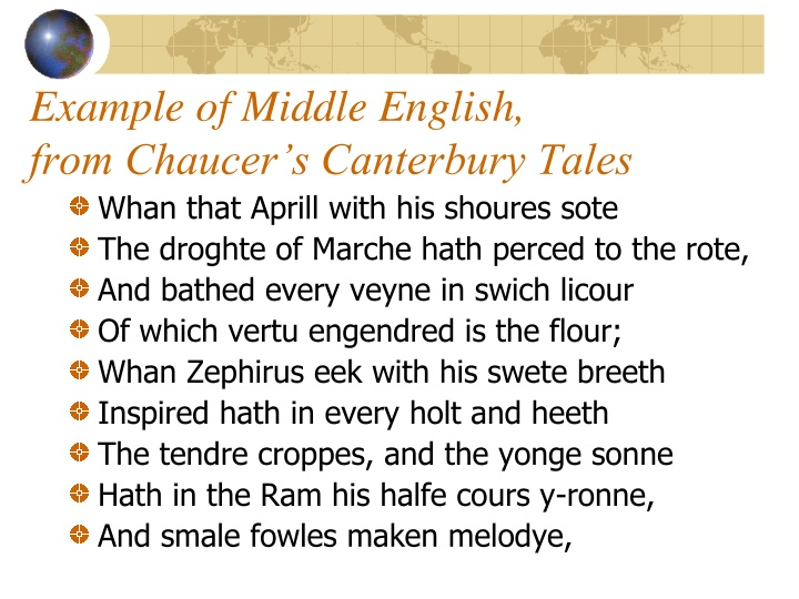 Example of Middle English,